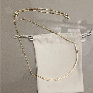 Kendra Scott gold Scottie necklace